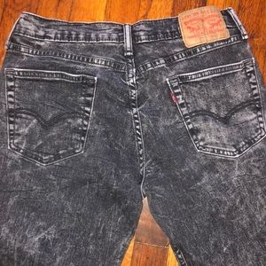 Levi Strauss 511 jeans slim fit black grey 33 x 32